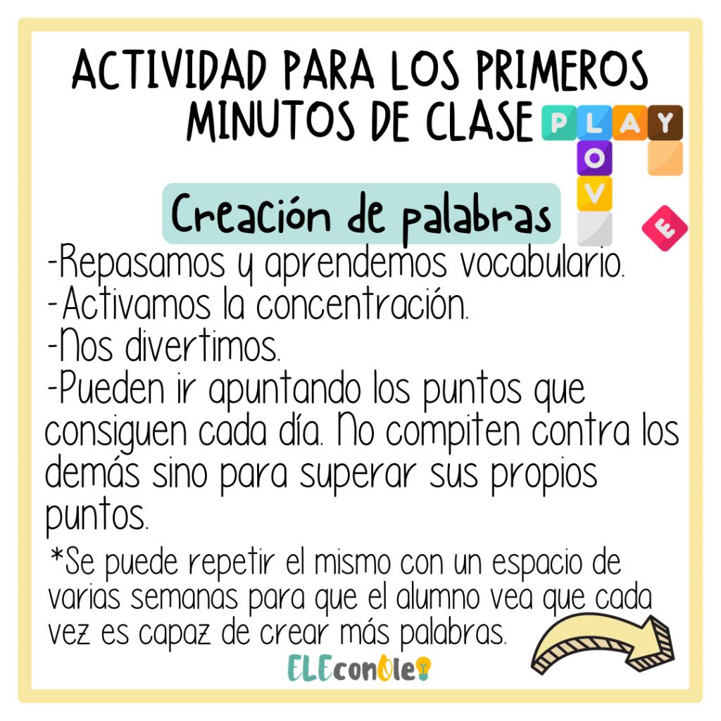 VOCABULARIO EN CLASE DE ELE