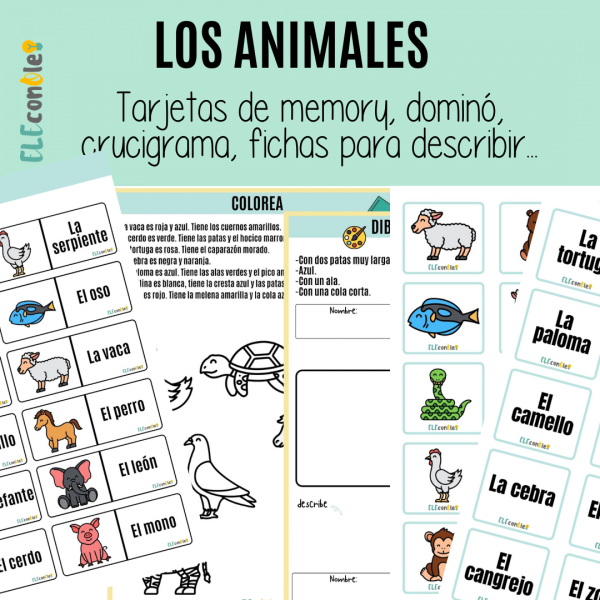 los animales en español