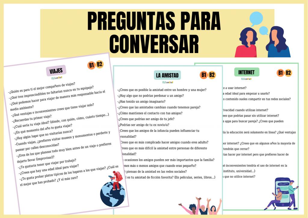 PREGUNTAS CONVERSACIÓN ELE